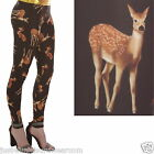 DEER LEGGINGS GOTH EMO INSANITY SIZE 6-18 ALTERNATIVE
