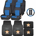 Synthetic Leather Seat Covers Set MLB Houston Astros Rubber Mat Universal on Ebay