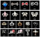 10Pcs 3D Design Plated Alloy Nail Art Tip Decoration Bling Rhinestones Bowknot