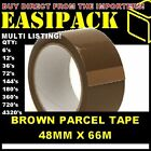 Strong Brown/Buff 48mm X 66M (2 Inch) Parcel Tape Packaging Packing Econ. Tape