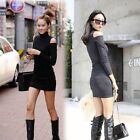Fashion New Women's Sexy Turtleneck Off Shoulder Long Sleeves Mini Casual Dress