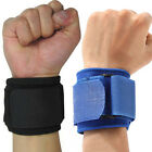 Wrist Brace Wrap Bandage Support Gym Strap Adjustable Sports Wristband Blue