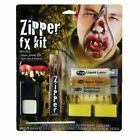 HALLOWEEN VAMPIRE ZIPPER DELUXE MAKE-UP KIT FANGS SCARY MAKE UP WOUND GORE KIT
