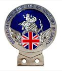 Union Jack St Christopher Car Badge +Tools Choice of 3 Colours