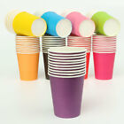 10/50Pcs Disposable Paper Cups Solid Events Catering Food Party Tableware Drink
