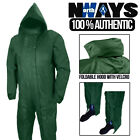 Mens Waterproof Boiler Suit Overall Coverall Workwear Mechanic Hooded Rain NEW