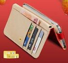 for iPhone 6 / 6S - HORIZONTAL Leather Credit Card ID Wallet Holder Pouch Case
