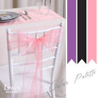 1 10pcs Organza Sashes 15x275cm Chair Cover Bow Wedding Party Venue Decoration