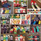 Women Christmas Deer Design Socks Snowflake Santa Snowman Cartoon Socks XMAS Gif