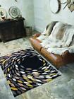 Flair Carnival Swirl Taupe Black Gold Rugs