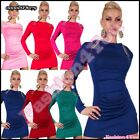 Sexy Women's Jumper Dress Ladies Casual Long Pullover One Size 6,8,10,12 UK