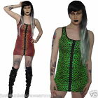 LONG VEST TANK TOP 80S FANCY DRESS GOTH EMO ALTERNATIVE INSANITY