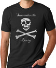 Surrender The Booty Funny Pirate T-shirt