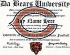 BEARS~DA BEARS~CHICAGO BEARS,  MAN CAVE ~ CERTIFICATE ~ DIPLOMA GREAT   GIFT