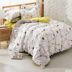 New Grey/Green Double/Queen Bed Quilt/Duvet Cover Set New Cotton Pillow Cases