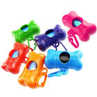 1 Holder +400 Bags - Bone Shaped Dog Dispenser Pooper Scooper Waste Plastic Bag