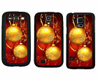 CHRISTMAS RUBBER CASE FOR SAMSUNG S4 S5 S6 EDGE NOTE 3 4 5 GOLD ORNAMENT