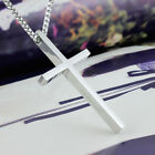 Beauty Stainless Steel Cross Pendant Mens Women Couple Lover Necklace Gift