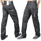 MENS BLACK SKINNY JEANS DENIM STAR FASHION REGULAR SLIM FIT TROUSER STY 4