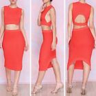 Sexy Lady Red/White/Green Hollow Out Tops Backless Bodycon Boutique Party Dress
