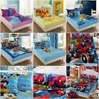 Cartoon Flannel Fitted Sheet Set Pillowcases Single/Queen Bed Linen 6 Styles New