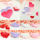 100 Padded Satin Heart Decoration Love Card Scrapbooking Embellishment 35mm 20mm