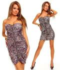 Womens Bandeau Bodycon Party Mini Dress with Zip size 8-10