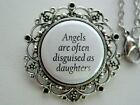 Angels Are Often Disguised As Daughters Memorial Necklace / Keychain