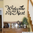 Welcome to our Nest Quote Wall Stickers Family Bird Love Mural Transfer Decals