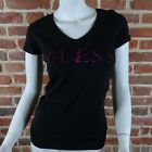 Tee shirt Guess manches courtes Femme W52I38 Noir, Taille XS S M L