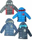 NEW OFFICIAL BOYS SPIDERMAN PADDED HOODED JACKET GREY BLUE  AGES  3 TO 8 YEARS