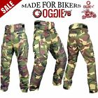 MENS MOTORBIKE MOTORCYCLE TEXTILE WATERPROOF CARGO JEANS TROUSER STRETCH PANELS