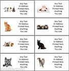 SMALL PERSONALISED CAT KITTEN ADDRESS MAILING CRAFT LABELS