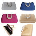 Womens Sequins Evening Bag Clutch Elegant Party Wedding Hobo Handbag Satchel Bag