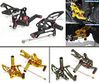 CNC Adjustable Rearsets Rear Set Foot Rest Pegs Fit 2014-2015 YAMAHA YZF R25 R3