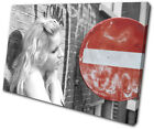 City City Beauitful Woman Sign  CANVAS WALL ART Picture Print VA