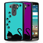 CAT PAWS SILHOUETTE RUBBER CASE FOR LG G3 G4 G5 PURPLE OR BLUE