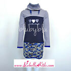Blu By Blu Peace Out Girl's Triple Heart Camo Tunic Collection Sizes 6-14