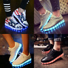 New Fashion 7 Colors LED Lighted Shoes Mens Womens Walking Sport Flash Sneakers