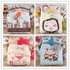 New Lovely Single/Double/Queen Bed Linen Quilt/Duvet Cover/Pillowcase Set Cotton