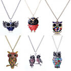 2016 Women's Crystal Owl Pendant Necklace Chain Sweater Long Charm Retro Jewelry