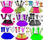 NEON TUTU SKIRT SET PARTY 80'S FANCY DRESS