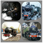 STEAM TRAINS -  NOVELTY COASTERS - EASY CLEAN - NEW - GIFT IDEAS / XMAS / B /DAY