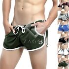 Men's Adults Cotton Side Splitting Slack Home Shorts Sports Trunks Boxers M-XL