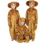 Kids Teddy Bear Costume Brown Fur Childs Dog Fancy Dress World Book Day Outfit