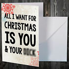 OFFENSIVE NOVELTY FUNNY CHRISTMAS CARD COMEDY ALL I WANT