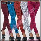 Sexy Ladies Skinny Jeans Women's Hipsters Check Trousers Size 6,8,10,12,14 UK