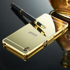 Sony discount duty free Luxury Mirror Back Cover + Metal Aluminum Frame Case For Sony Xperia Mobles