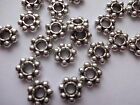 25, 50, 100 Antique Silver Pewter Beads Heavy Duty  8mm x 2.5mm thick - Hole 3mm