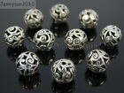 Kyпить Tibetan Silver Carved Patterned Hollow Connector Round Spacer Charm Beads 8-12mm на еВаy.соm